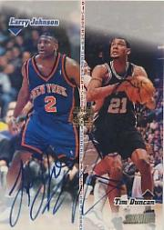 1998-99 Stadium Club Co-Signers #CO10 Larry Johnson/Tim Duncan