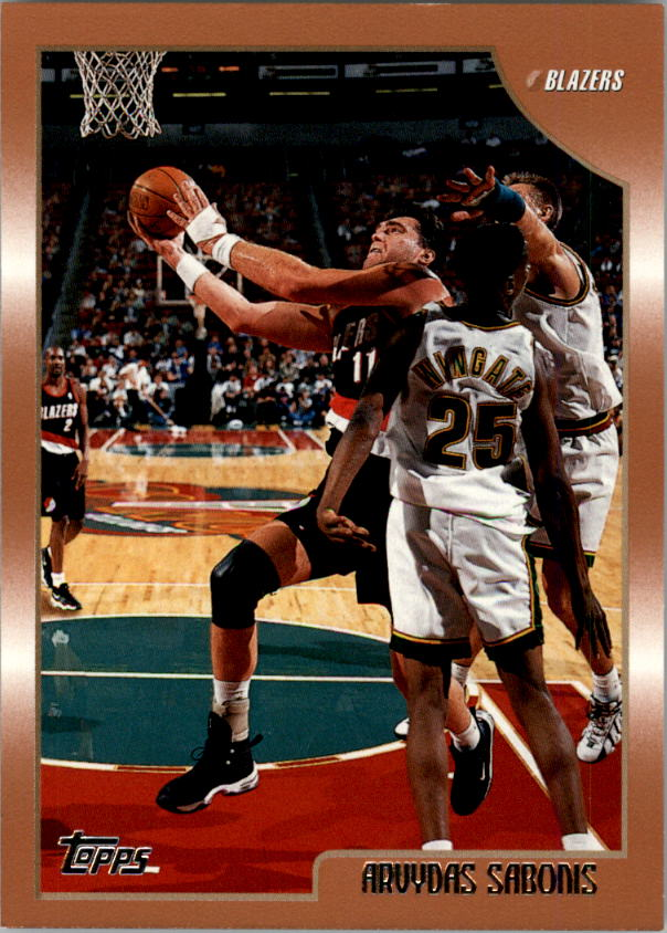 1998-99 Topps #16 Arvydas Sabonis