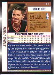 1998-99 Topps #51 Steve Nash back image