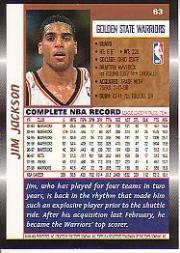 1998-99 Topps #63 Jim Jackson back image