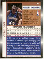 1998-99 Topps #66 Chris Carr back image