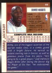 1998-99 Topps #69 Bobby Jackson back image