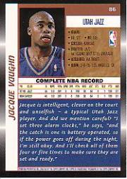1998-99 Topps #86 Jacque Vaughn back image