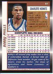 1998-99 Topps #87 Bobby Phills back image