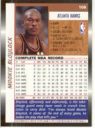 1998-99 Topps #108 Mookie Blaylock back image