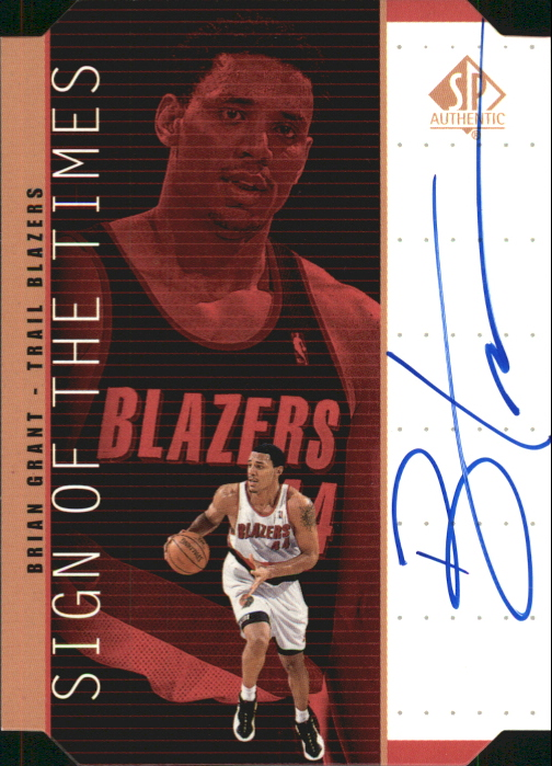 1998-99 SP Authentic Sign of the Times Bronze #BG Brian Grant