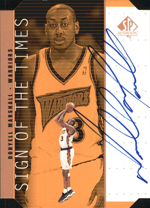 1998-99 SP Authentic Sign of the Times Bronze #DM Donyell Marshall