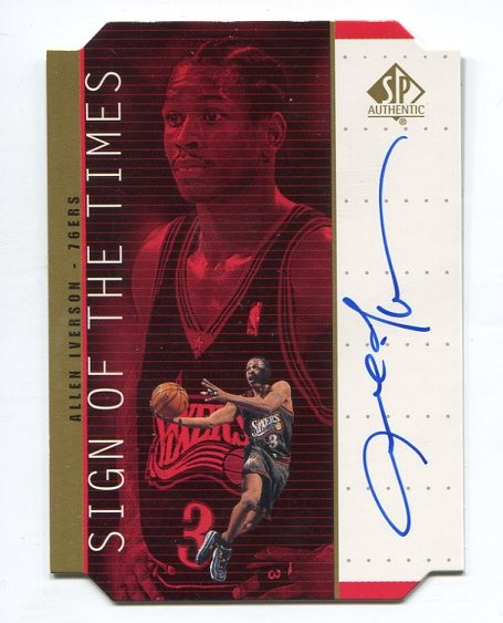 1998-99 SP Authentic Sign of the Times Gold #AI Allen Iverson
