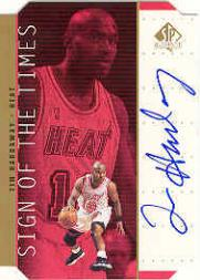 1998-99 SP Authentic Sign of the Times Gold #TH Tim Hardaway