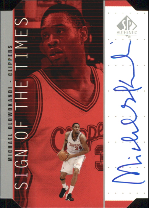 1998-99 SP Authentic Sign of the Times Silver #MO Michael Olowokandi