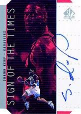 1998-99 SP Authentic Sign of the Times Silver #SH Shawn Kemp