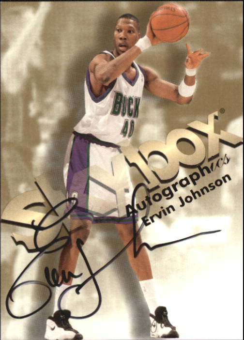 1998-99 SkyBox Premium Autographics #64 Ervin Johnson