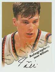 1998-99 SkyBox Premium Autographics #135 Jason Williams