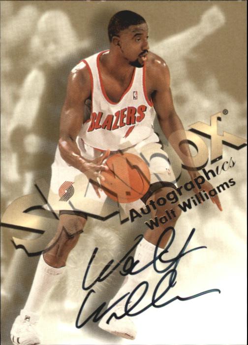 1998-99 SkyBox Premium Autographics #138 Walt Williams