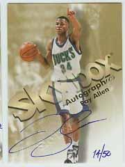 1998-99 SkyBox Premium Autographics Blue #4 Ray Allen