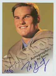 1998-99 SkyBox Premium Autographics Blue #45 Pat Garrity