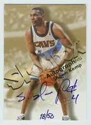 1998-99 SkyBox Premium Autographics Blue #68 Shawn Kemp