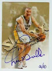 1998-99 SkyBox Premium Autographics Blue #89 Chris Mullin
