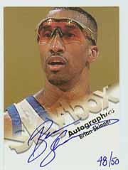 1998-99 SkyBox Premium Autographics Blue #112 Brian Skinner
