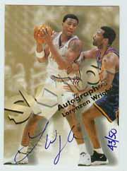 1998-99 SkyBox Premium Autographics Blue #139 Lorenzen Wright