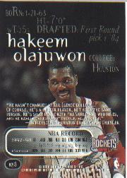 1998-99 SkyBox Thunder #3 Hakeem Olajuwon back image