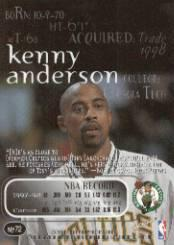 1998-99 SkyBox Thunder #72 Kenny Anderson back image