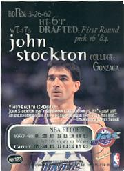 1998-99 SkyBox Thunder #123 John Stockton back image