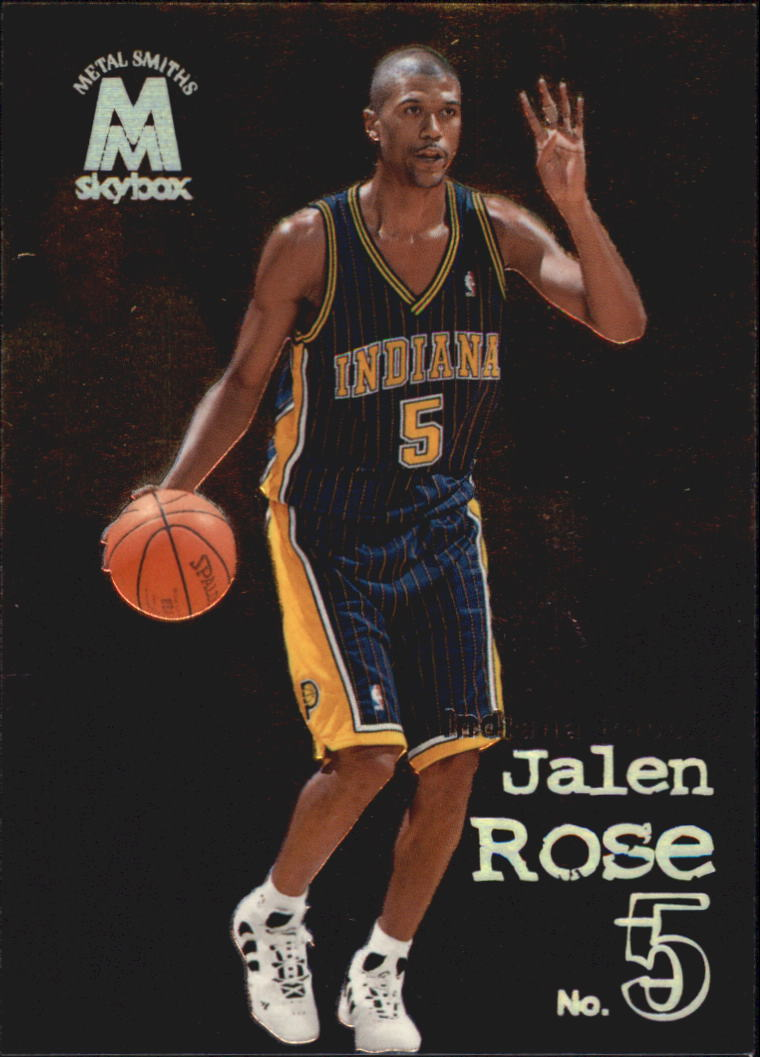 900dc4308f3 1998-99 SkyBox Molten Metal Indiana Pacers Basketball Card  8 Jalen Rose