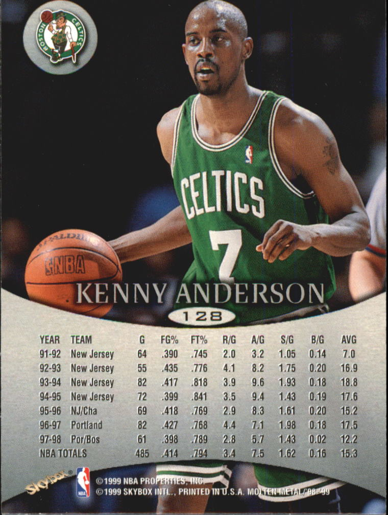 1998-99 SkyBox Molten Metal #128 Kenny Anderson back image