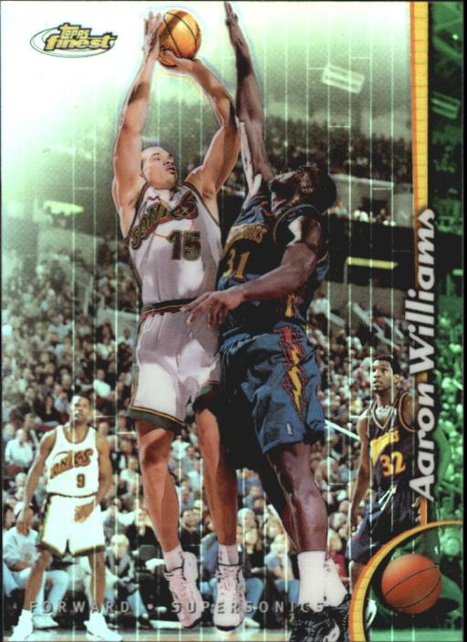 1998-99 Finest No Protectors Refractors #189 Aaron Williams