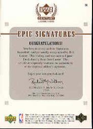 1999 Upper Deck Century Legends Epic Signatures #BL Bob Lanier back image