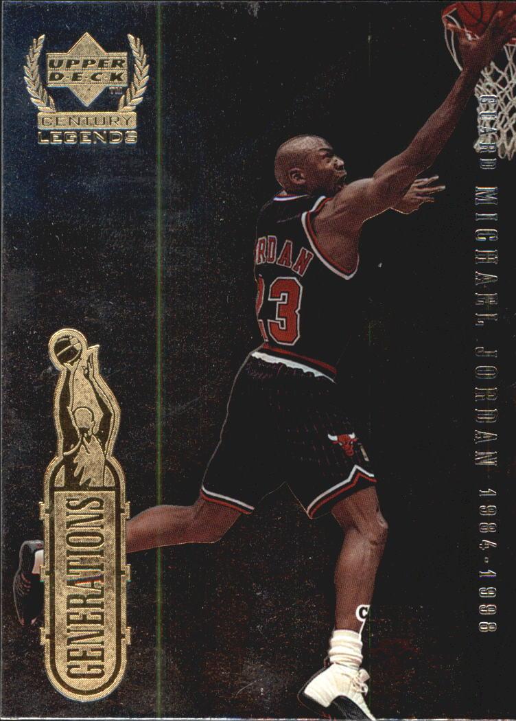 1999 Upper Deck Century Legends Generations #G1 Michael Jordan/Julius Erving