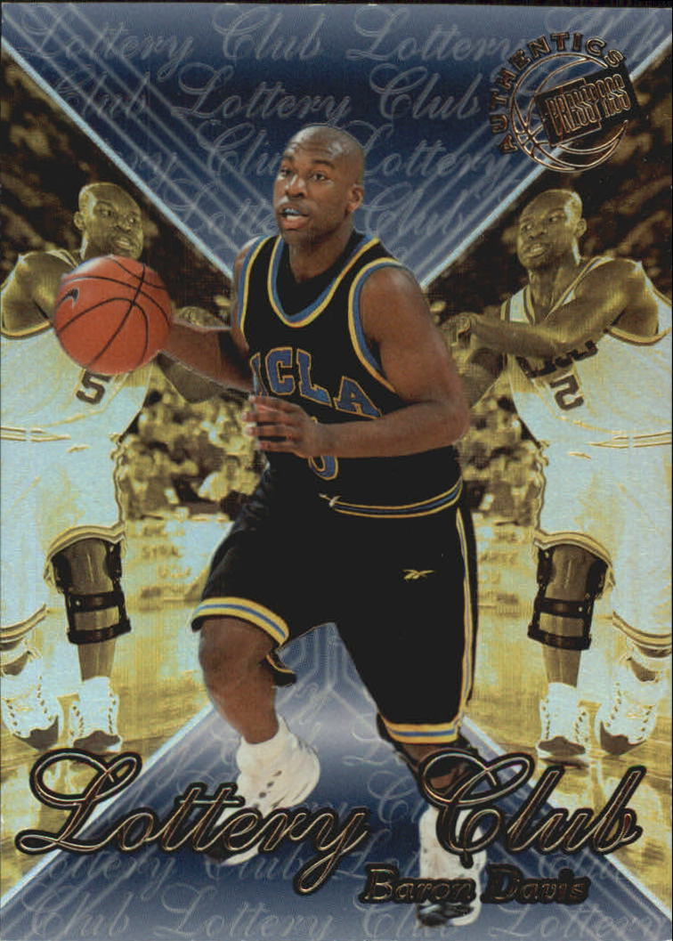1999 Press Pass Authentics Lottery Club #LC3 Baron Davis