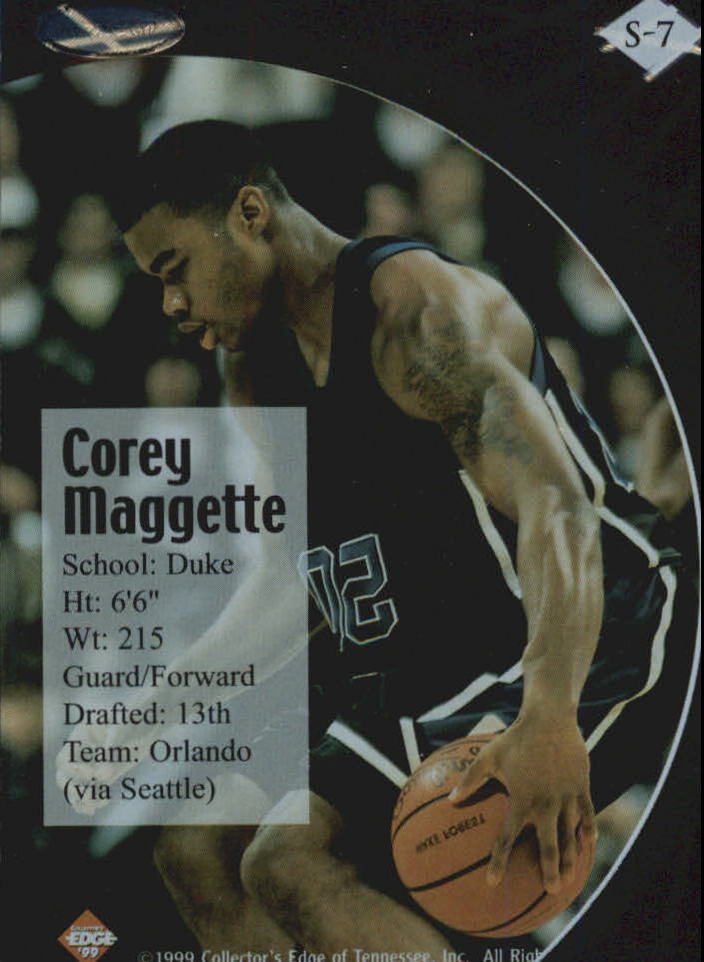 1999 Collector's Edge Rookie Rage Successors #S7 Corey Maggette back image