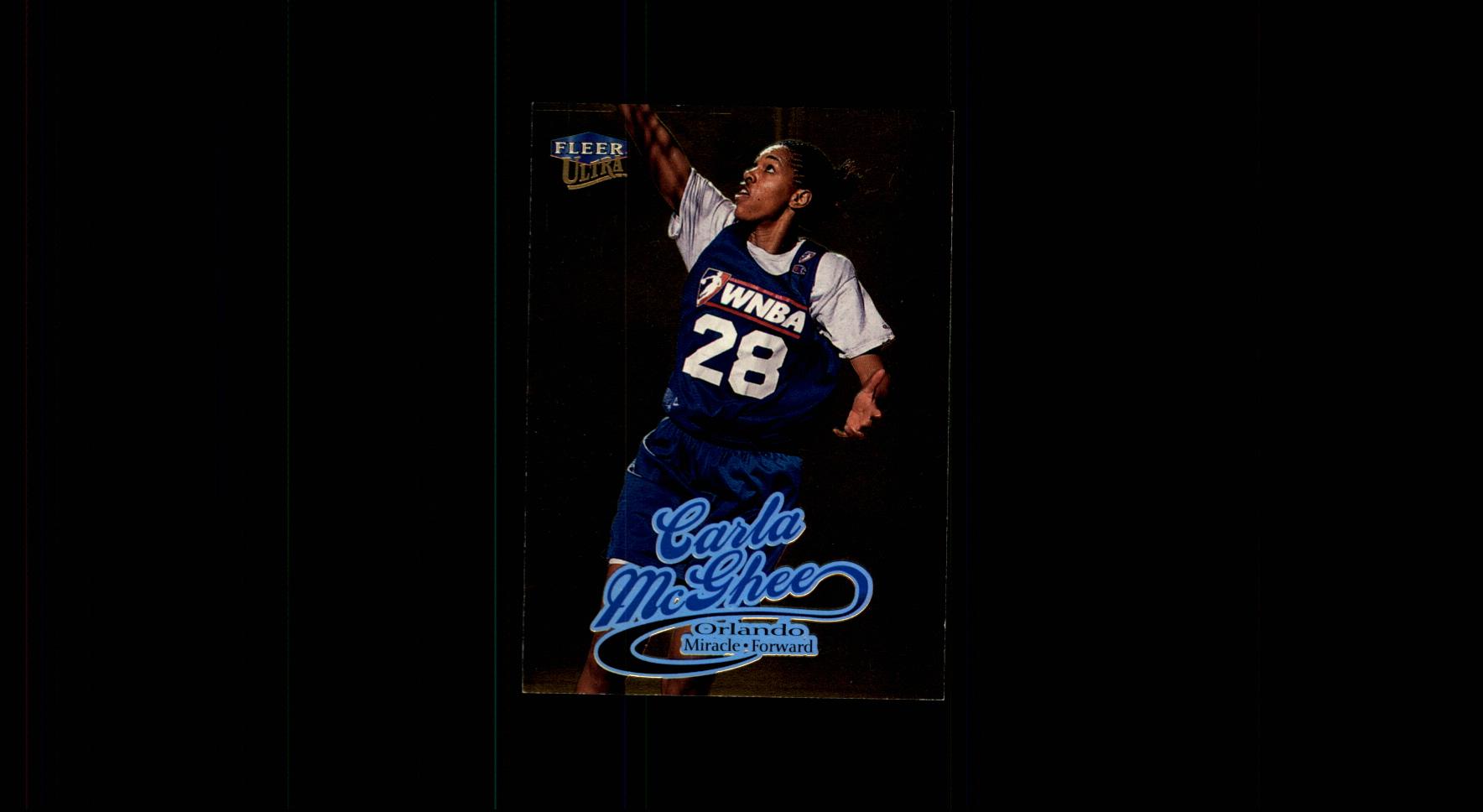 1999 Ultra WNBA #66 Carla McGhee RC