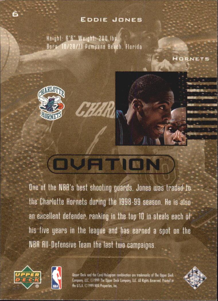 1999-00 Upper Deck Ovation #6 Eddie Jones back image