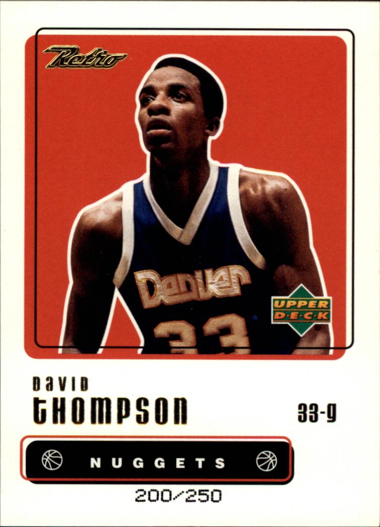 1999-00 Upper Deck Retro Gold #33 David Thompson