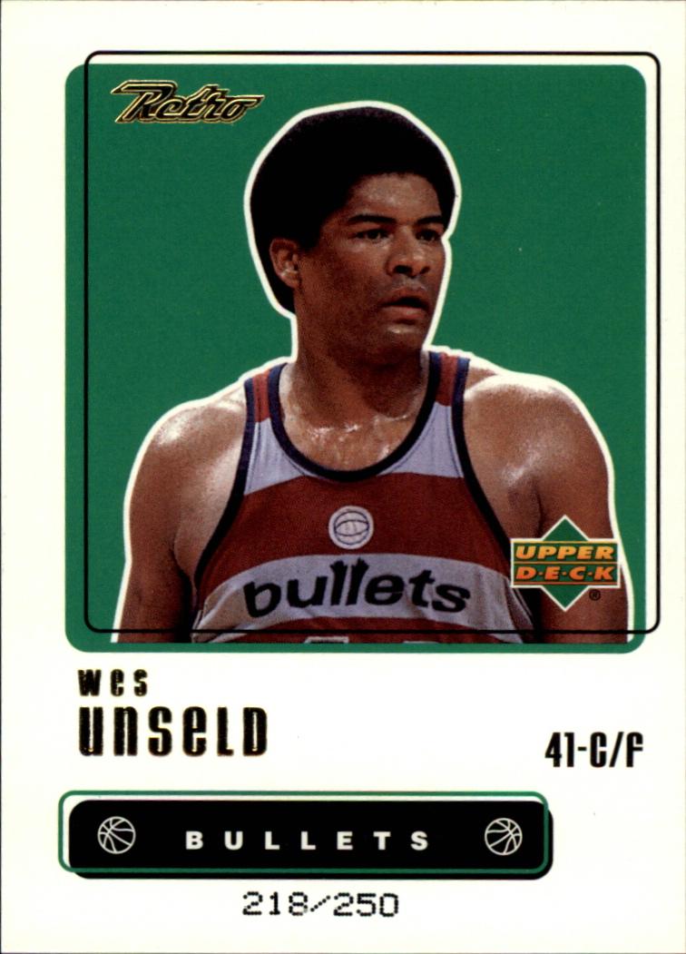 1999-00 Upper Deck Retro Gold #86 Wes Unseld