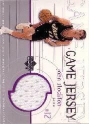 1999-00 Upper Deck Game Jerseys #GJ34 John Stockton