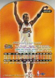 1999-00 Ultra Gold Medallion #20 Allen Iverson back image