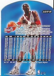 1999-00 Ultra Gold Medallion #107 Hakeem Olajuwon back image