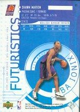 1999-00 UD Ionix #69 Shawn Marion RC back image