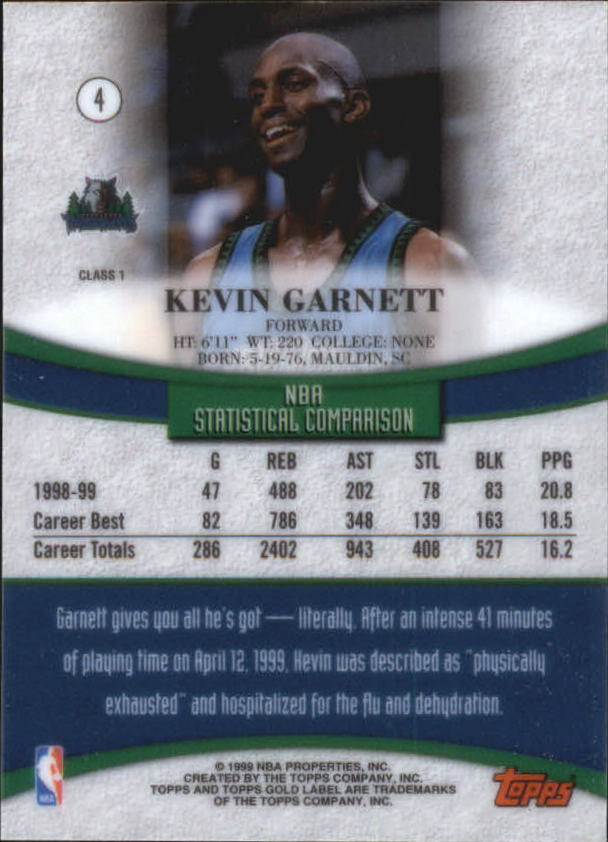 1999-00-Topps-Gold-Label-Class-1-Basketball-Cards-Pick-From-List thumbnail 9
