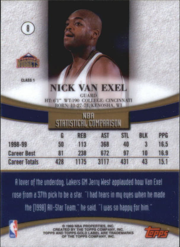 1999-00-Topps-Gold-Label-Class-1-Basketball-Cards-Pick-From-List thumbnail 15