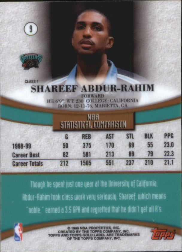 1999-00-Topps-Gold-Label-Class-1-Basketball-Cards-Pick-From-List thumbnail 17