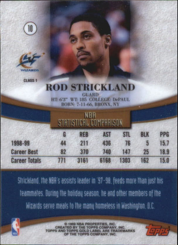 1999-00-Topps-Gold-Label-Class-1-Basketball-Cards-Pick-From-List thumbnail 19
