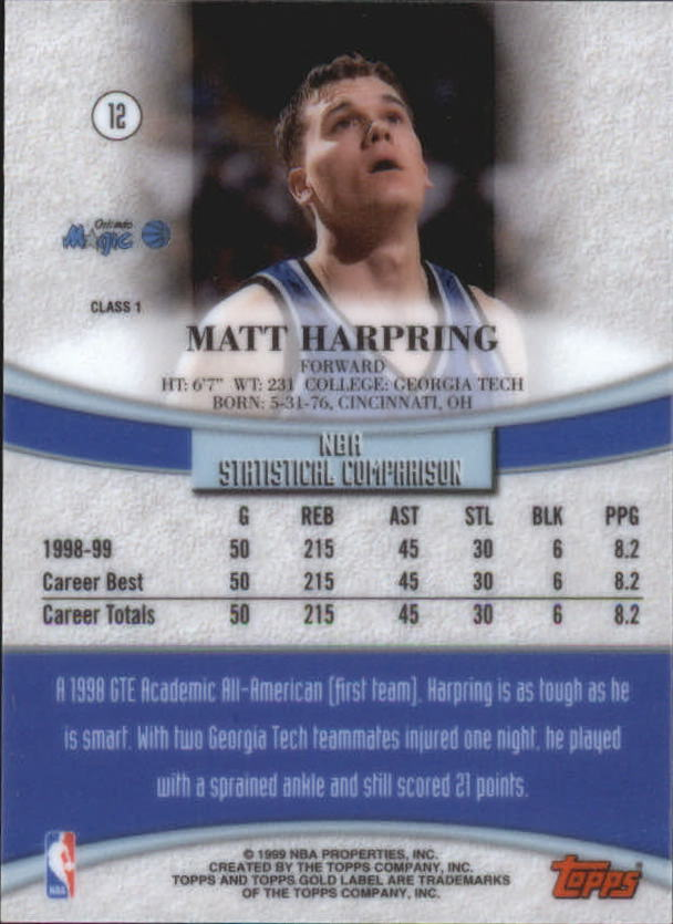 1999-00-Topps-Gold-Label-Class-1-Basketball-Cards-Pick-From-List thumbnail 23