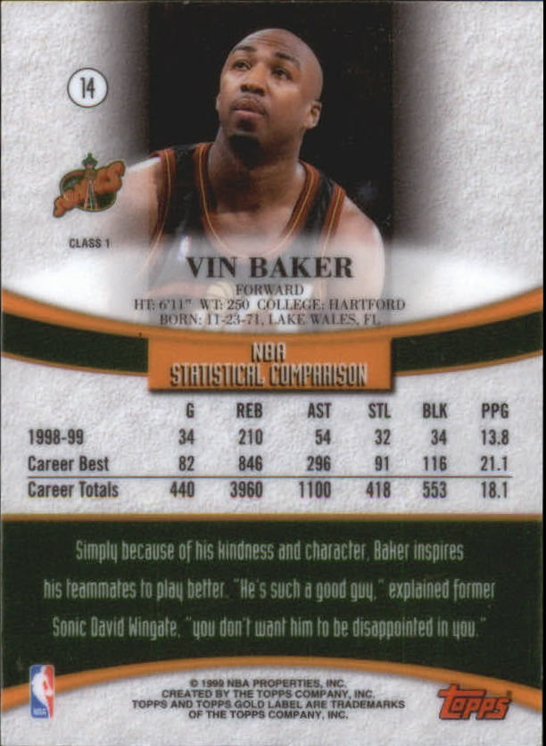 1999-00-Topps-Gold-Label-Class-1-Basketball-Cards-Pick-From-List thumbnail 27