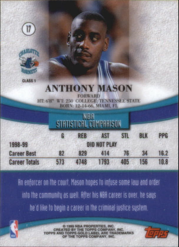 1999-00-Topps-Gold-Label-Class-1-Basketball-Cards-Pick-From-List thumbnail 33