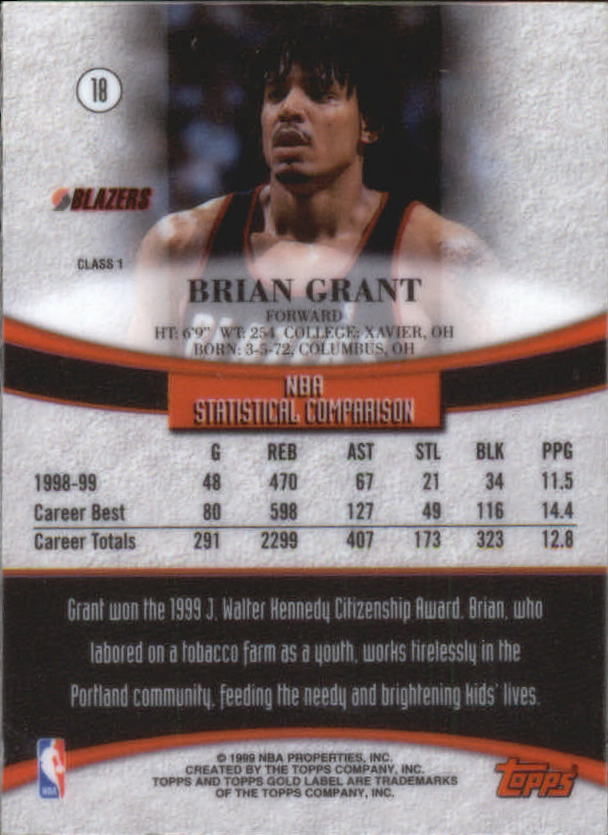 1999-00-Topps-Gold-Label-Class-1-Basketball-Cards-Pick-From-List thumbnail 35
